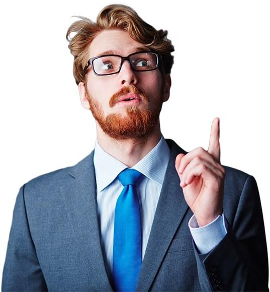 Офисный работник в очках