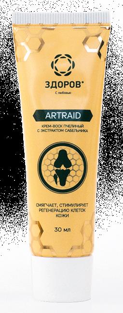 Artraid - крем-воск пчелиный с экстрактом сабельника